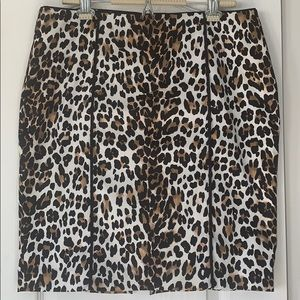 Leapard print skirt